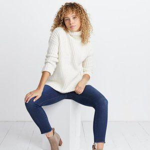 Marine Layer Brandie Funnel Neck Sweater White